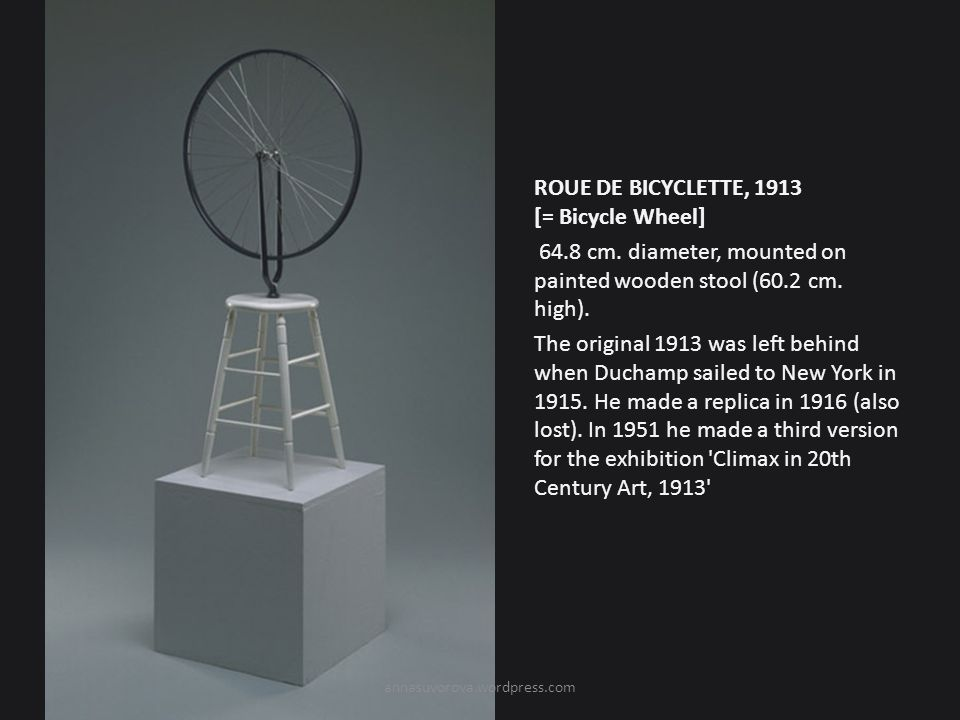 ROUE DE BICYCLETTE, 1913 [= Bicycle Wheel] 64. 8 cm